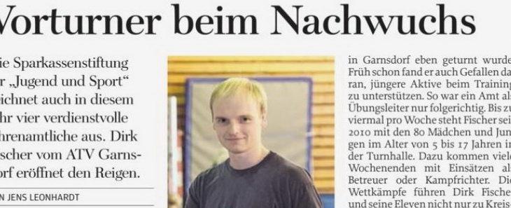 Stiftungspreis für Dirk Fischer – Freie Presse, 16.08.2017